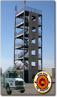 Image of training tower at fire department